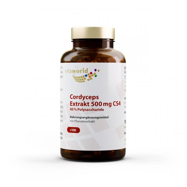 Cordyceps Extrakt CS4 500 mg 40% Polysaccharide (100 Kps)