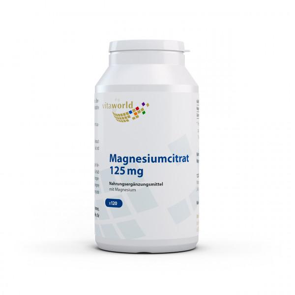 Magnesiumcitrat 125 mg (120 Kps)