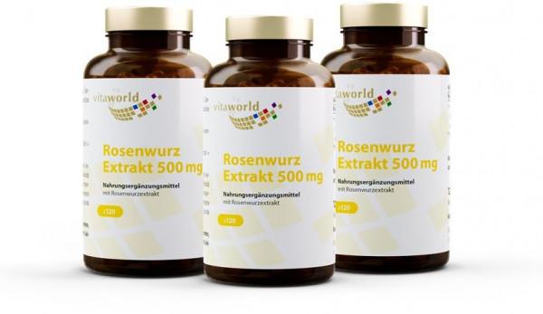 3er Pack Rosenwurz-Extrakt 500 mg (360 Kps)