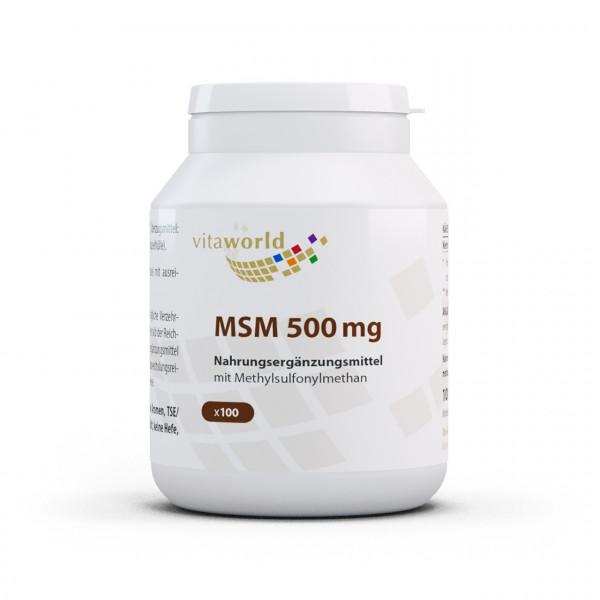 MSM 500 mg (100 Kps)