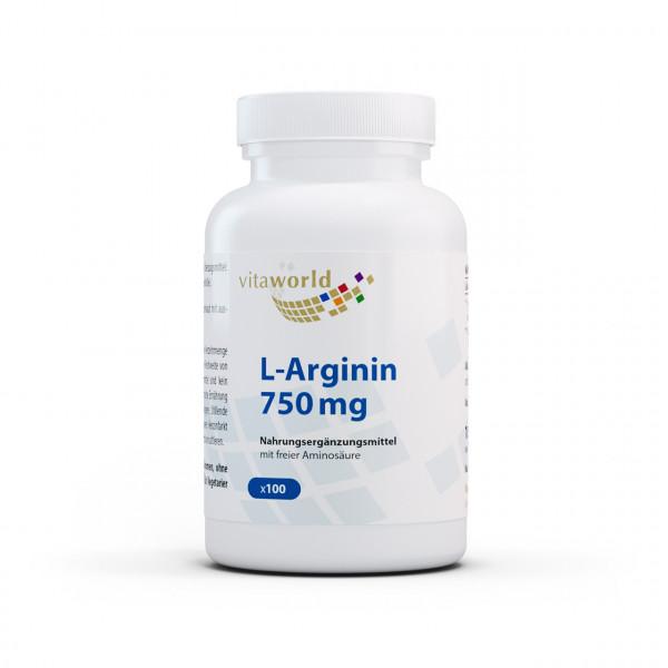 L-Arginin 750 mg (100 Kps)