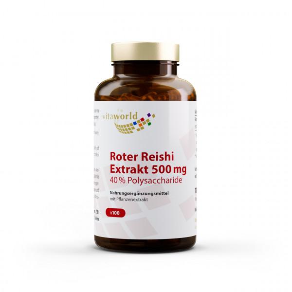 Roter Reishi Extrakt 500 mg 40% Polysaccharide (100 Kps)