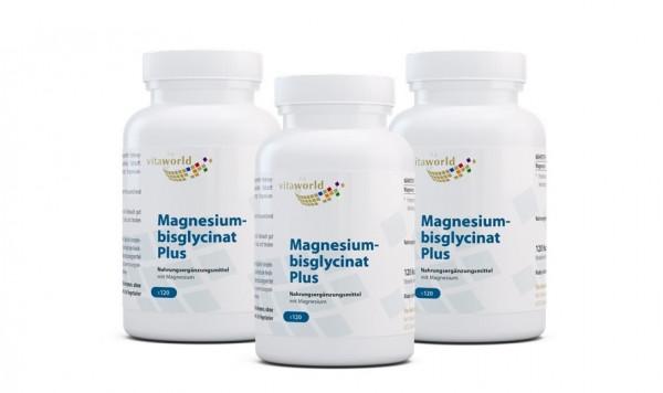 3er Pack Magnesiumbisglycinat Plus (360 Kps)