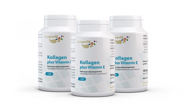 3er Pack Kollagen 500 mg plus Vitamin E (300 Kps)