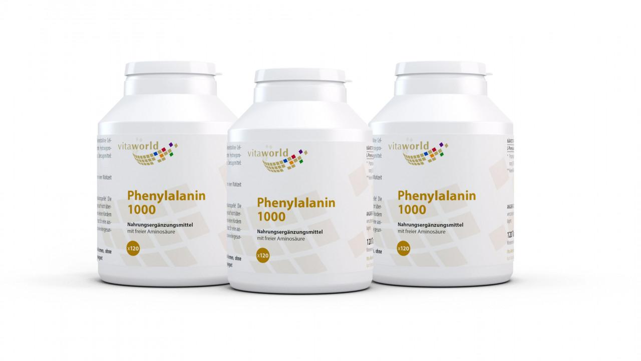 Nahrungsergänzungsmittel 3er Pack Phenylalanin 1000 mg (360 Tab)