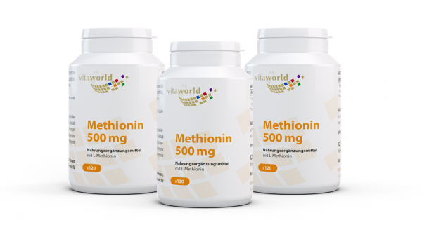 3er Pack Methionin 500 mg (360 Kps)