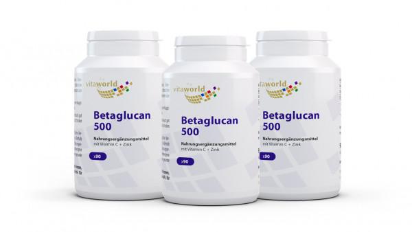 3er Pack Betaglucan 500 (270 Kps)