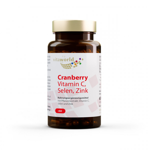 Cranberry Vit C + Selen + Zink (60 Kps)