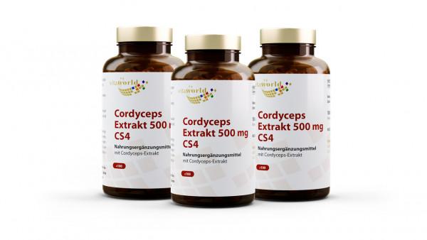 3er Pack Cordyceps Extrakt 500 mg CS4 (300 Kps)