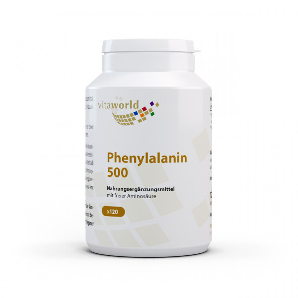Phenylalanin 500 mg (120 Kps)